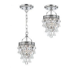 Crystorama - Calypso Ceiling Mount/Pendant - Your style sparkles — and this fabulous fixture lets you customize it. The dazzling cascade of clear glass globes can be installed close to the ceiling or dangling from a chain to suit your decor.