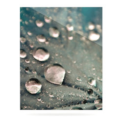 """Kess InHouse - Iris Lehnhardt """"Water Droplets Grey"""" Dark Metal Luxe Panel (24"""" x 36"""") - Our luxe KESS InHouse art panels are the perfect addition to your super fab living room, dining room, bedroom or bathroom. Heck, we have customers that have them in their sunrooms. These items are the art equivalent to flat screens. They offer a bright splash of color in a sleek and elegant way. They are available in square and rectangle sizes. Comes with a shadow mount for an even sleeker finish. By infusing the dyes of the artwork directly onto specially coated metal panels, the artwork is extremely durable and will showcase the exceptional detail. Use them together to make large art installations or showcase them individually. Our KESS InHouse Art Panels will jump off your walls. We can't wait to see what our interior design savvy clients will come up with next."""