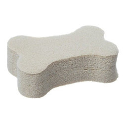 """Casabella - No Bones About It Sponge - Sorry we simply cant handle pet hair that invades our living spaces and shows up on our nicest black pants. There is a cure. These superb sponges effectively remove pet hair from carpets upholstery clothing and auto interiors.  Use dry and simply wipe along any surface to effortlessly remove pet hair.  The hair will roll up in a ball for easy disposal.  Reuseable so its better for the environment: when the sponge gets soiled simply hand wash with soap and water allow to dry and its good as new.  And theyre made in the USA.4 1/2""""L x 3""""W x 1""""H"""
