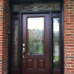 Doors - Provia 2/3 lite entry door with matching sidelights and transom installed in Vienna, VA.