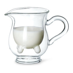 Calf & Half Creamer Pitcher - The Calf & Half Creamer Pitcher is an udderly irresistible and delightful gift, both on the giving and receiving ends.