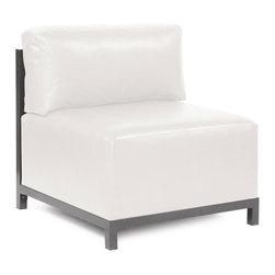 Howard Elliott - Howard Elliott Avanti White Axis Chair Slipcover - Axis chair Avanti white slipcover