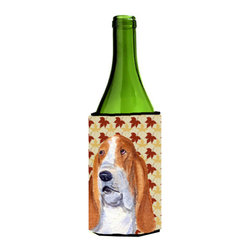 Caroline's Treasures - Bulldog English Fall Leaves Portrait Wine Bottle Koozie Hugger SS4328LITERK - Bulldog English Fall Leaves Portrait Wine Bottle Koozie Hugger SS4328LITERK Fits 750 ml. wine or other beverage bottles. Fits 24 oz. cans or pint bottles. Great collapsible koozie for large cans of beer, Energy Drinks or large Iced Tea beverages. Great to keep track of your beverage and add a bit of flair to a gathering. Wash the hugger in your washing machine. Design will not come off.