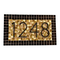 Mosaic Address Signs -
