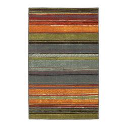 Mohawk Home Rainbow Multi Stripe Rug (1'8x2'10) -