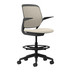 Steelcase Cobi Stool, Black Frame with Arms