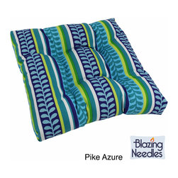 Blazing Needles - Blazing Needles 19-inch Long Outdoor Chair/Rocker Cushion - Add flare to your outdoor living space with this lively Blazing Needles outdoor chair/rocker cushion. Made of 100-percent spun polyester for durability and weather resistance, this stylish tufted-style cushion is the perfect accent to your outdoor decor.