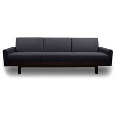 modern sofas Paddington Dark Grey 3-Seat Couch