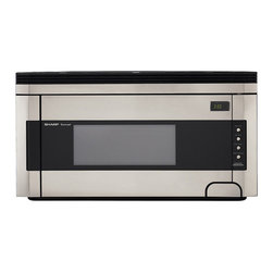 Sharp - Sharp R1514T 1.5-cu-ft Over-the-Range Microwave Oven - Save counter space in your kitchen with this handy over-the-range microwave oven from Sharp. The spacious stainless-steel microwave features a two-speed ventilation fan,three instant-action buttons and four defrost options.