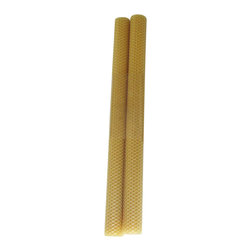 """Perin-Mowen Inc - Pair of Dark Natural Beeswax 16"""" x 1.25"""" Banquet Candles - A pair of hand rolled 100% dark natural beeswax candles with a cotton wick. These banquets are 16"""" inches high by 1.25 inches in diameter. These beeswax banquet candles burn beautifully and will not drip. Each candle will have a burn time of one hour per inch. These candles have a burn time of 16hours. Made in USA, materials sourced from USA. Perin-Mowen, hand rolling beeswax candles for thirty years. Dark Natural Beeswax shown."""