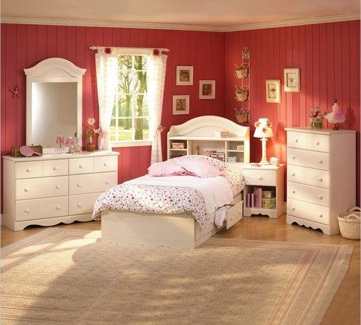 South Shore - South Shore Summer Breeze Kids Twin Wood Bookcase Bed 3-Piece Bedroom Set - South Shore - Bedroom Sets - 3210PKG