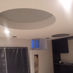 Various Curve products - This photo shows two custom soffits we made for the ceiling of this house.