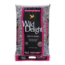 None - Wild Delight Fruit and Berry Seed 20-pound Mix - Enjoy bird watching from the comfort of your own home by filling bird feeders with this great bird food. The mix includes seeds and fruit that are specifically chosen to attract songbirds,finches,and numerous other beautiful birds.
