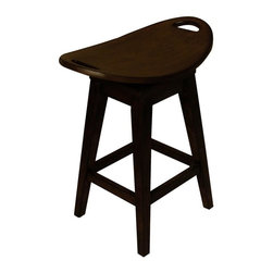 Carolina Accents - Thoroughbred Backless Wood Counter Stool in Espresso Finish - Return swivel seat. Made from wood. 23 in. L x 16 in. W x 26.75 in. HOur Thoroughbred Stools are replicas of an antique with modern flair. The curved seats are deceptively comfortable and feature a return swivel mechanism.