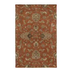 """Kaleen - Kaleen Mystic Collection 6060-67 5'X7'9"""" Copper - The Mystic Collection is inspired to be a new generation of Kaleen's legendary Mystical Garden Collection. Mystic is a statement of style, and personal taste.  Completely handcrafted from washed 100% virgin wool this collection of wonderful and delightful designs offers the flexibility and durability to handle today's hectic lifestyle while offering elegance and charm rarely seen.  Hand crafted in India."""