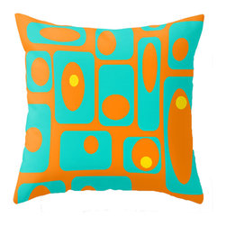Crash Pad Designs - Crash Pad Designs Mod Throw Pillow - Earl - Mod love: Your true colors are showing. You love the bold and the beautiful patterns from a more vibrant era, and this fabulous throw pillow is pandering shamelessly to that passion.