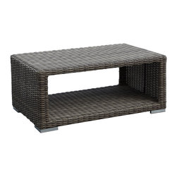 3 Piece Coronado Wicker Outdoor Sofa Set by Sunset West - The quaint and elegant 3 Pc. Coronado Wicker Sofa Set by Sunset West (2101-3Pc) provides comfortable seating for as many as seven adults in any outdoor setting. The set includes a loveseat and club chair to go along with a rectangular coffee table, but there are countless ways to expand and customize your set with the available add-on pieces. All pieces in this set feature a high quality resin wicker that has a driftwood color and will not fade, crack, or split like natural wicker. The cushions are made with your choice of many Sunbrella brand fabrics, which offer unmatched comfort, lifespan, and protection against the elements.
