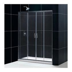 "DreamLine - DreamLine SHDR-1160726-01 Visions Shower Door - DreamLine Visions 56 to 60"" Frameless Sliding Shower Door, Clear 1/4"" Glass Door, Chrome Finish"