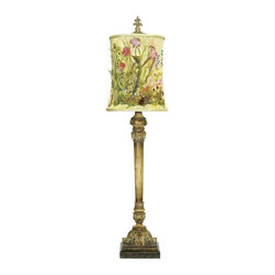 Dimond - Dimond Monet Garden Buffet Lamp X-531-19 - Stunningly intricate details compliment the garden themed style of this Sterling Industries buffet lamp. This Monet Garden buffet lamp features a coordinating detailed shade that features an intricate garden scene with a variety of flowers. Throughout the body, botanical elements are complimented by a classic finish.