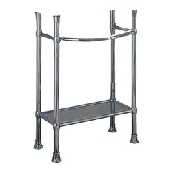 American Standard - American Standard 8711.000.002 Retrospect Collection Console Table Legs, Chrome - This American Standard 8711.000.002 Retrospect Collection Console Table Legs is part of the Retrospect collection, and comes in a beautiful Chrome finish. This set of console table legs features classically styled integral towel bars on the front and sides.
