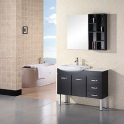 "Design Elements LLC - Bathroom Sink Vanity Set, 72"" Double Vessel Sink, Portland - Faucets not included"