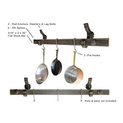 Pot & pan hanger (wall mounted) - Railroad inspired products for the kitchen by Railroadware