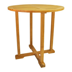 "Anderson Teak - Bahama 39"" Round Bar Table - The bar table is 39"" round and will comfortably seat four."