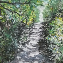 Rock Cut State Park, Original, Painting - Hang this original watercolor in your living room, bedroom or hallway and bring a breath of fresh air into your home. Painted and signed by artist Emily Farmer, this contemporary landscape is a certain to become a lifelong treasure.