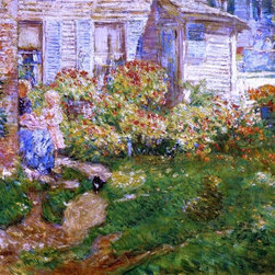 """Art MegaMart - Frederick Childe Hassam A Fisherman's Cottage - 20"""" x 25"""" Premium Canvas Print - 20"""" x 25"""" Frederick Childe Hassam A Fisherman's Cottage premium canvas print reproduced to meet museum quality standards. Our museum quality canvas prints are produced using high-precision print technology for a more accurate reproduction printed on high quality canvas with fade-resistant, archival inks. Our progressive business model allows us to offer works of art to you at the best wholesale pricing, significantly less than art gallery prices, affordable to all. We present a comprehensive collection of exceptional canvas art reproductions by Frederick Childe Hassam."""