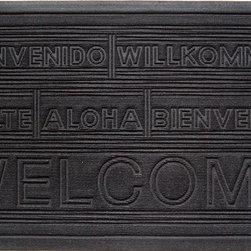 Entryways - International Welcome Weather Beater Polypropylene Mat 22 in. x 35 in. - This distinctive design from Entryways Weather Beaters collection combines two characteristics that make it an ideal floor or door mat. Crafted to meet the industry's highest standards, it is rugged enough to trap rain, snow, dirt and debris. Yet it is also designed to add classic sophistication to any decor.