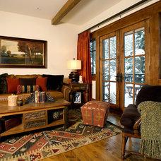 Rustic Living Room by Davis Design