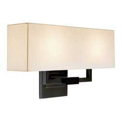 Sonneman - Sonneman 3384.51 Hanover Black Brass Wall Sconce - Sonneman 3384.51 Hanover Black Brass Contemporary Wall Sconce