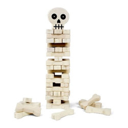 Stack the Bones Skeleton Skull & Crossbones Stacking - This is awesome — Jenga with a twist! My kids would love this.