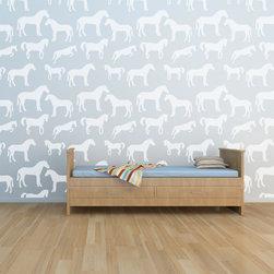 Cute Stencils - Horse Wall Stencil - HORSE  WALL STENCIL DESIGN