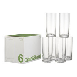 Set of 6 Highball Glasses - I keep a set of these handy for all types of parties. They are excellent for serving up small soup-like appetizers or mousse desserts.