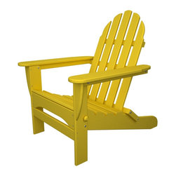 Folding Adirondack Lemon- Outdoor Recycled Plastic Furniture - Folding Adirondack chair, perfect for camping concerts, and days at the park!