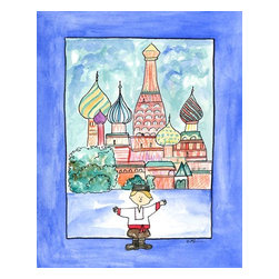 Oh How Cute Kids by Serena Bowman - Boy in Russia, Ready To Hang Canvas Kid's Wall Decor, 16 X 20 - Every kid is unique and special in their own way so why shouldn't their wall decor be so as well! With our extensive selection of canvas wall art for kids, from princesses to spaceships and cowboys to travel girls, we'll help you find that perfect piece for your special one.  Or fill the entire room with our imaginative art, every canvas is part of a coordinating series, an easy way to provide a complete and unified look for any room.