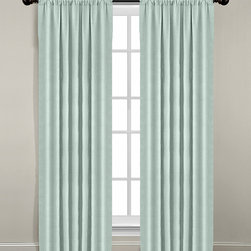 Veratex - Mineral Blue Gotham Linen Window Panel - Create a chic bedroom or living area setting by adding this easy-to-install curtain offering endless coordination possibilities and a luxuriously modern look.   Includes one panel Rod pocket 100% linen Machine wash Made in the USA