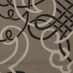 Scroll - Toffee Upholstery Fabric - Item #1010091-194.