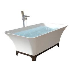ADM - ADM White Solid Surface Stone Resin Bathtub, Glossy - SW-167B