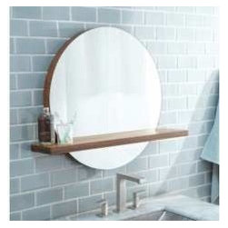 """KCK Bathroom Mirrors & Accessories - 28"""" Solace Mirror Shelf In Woven Strand - With its subtle use of bamboo, Solace projects a quiet strength and creates a sense of continuity- particularly when paired with Native Trails Renewal Series vanities. Solace is also perfect at home as the focal point in any contemporary room design. A detachable bamboo shelf, sold separately, add design flare and storage space. Handcrafted solid Woven Strand bamboo. Wall mounted. Built in French cleat. Low VOC finish."""