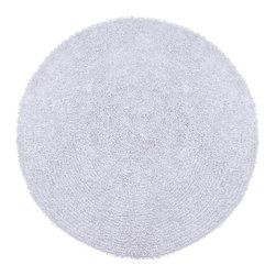 St Croix Trading - Shag Shagadelic Round 3' Round White Area Rug - The Shagadelic area rug Collection offers an affordable assortment of Shag stylings. Shagadelic features a blend of natural White color. Handmade of Chenille the Shagadelic Collection is an intriguing compliment to any decor.