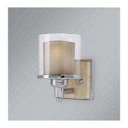 Murray Feiss - 1 Bulb Chrome Wall - - UL Damp Approved.