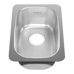 American Standard - Stainless Steel Undermount 12.75 inch x 18.13 inch Single Bowl Kitchen Sink - American Standard 14SB.181300.073 Stainless Steel Undermount 12.75 inch x 18.13 inch Single Bowl Kitchen Sink in Brushed Stainless Steel.