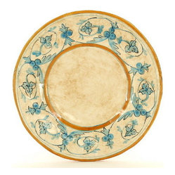 Artistica - Hand Made in Italy - DOMITIA: Dinner Plate - DOMITIA Collection: The Domitia is an exclusive design for Artistica by the Umbrian renown artist Rale of OperaNova.