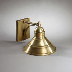Northeast Lantern - Barn Antique Brass One-Light Outdoor Wall Light - -Northeast Lantern offers a distinctive collection of early American and Colonial reproduction lighting that is hand crafted in New Hampshire for a lifetime of beauty.  -The fixtures are made of solid brass and copper. They  are cut fitted soldered finished and wired by hand in New Hampshire. Northeast Lantern - 3411-AB-MED