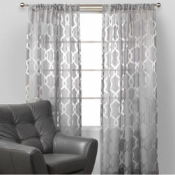 Z Gallerie - Channel Panels - Our Channel Drapery panels are sheer delight. The grey-on-grey pattern brings a subtle style to classic, semi-sheer panels. Available in three colors - White, Grey, or Gold. Each panel sold separately.