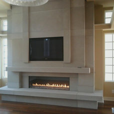 Modern Fireplaces by Concrete Arts