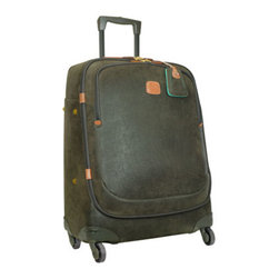 """Bric's - Bric's Olive Life Nuovo 27"""" Trolley - Begin your trip with the right equipment—from Bric's. Cotton-flocked PVC luggage with leather handles and trim is lined with polyester. Two-year limited warranty. 21"""" trolley, 15""""W x 9""""D x 21""""T. 27"""" trolley, 20""""W x 11""""D x 27""""T. 30"""" trolley, 22""""..."""