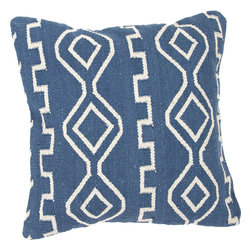 """Jaipur - Jaipur CD35 Pillow, 18""""X18"""" - Hand woven from 100% cotton the Cadiz pillow collection offers a range of open geometrics in bold color combinations. The collection coordinates with Jaipur Maroc and Urban bungalow flat weave rugs."""